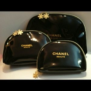 Authentic Chanel cosmetic bag set